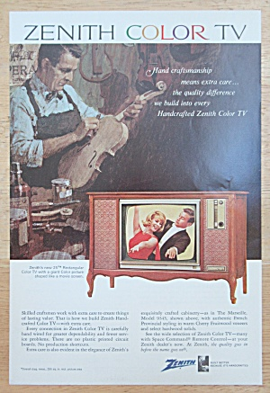 1966 Zenith Television with Zenith Rectangular Color TV (Image1)