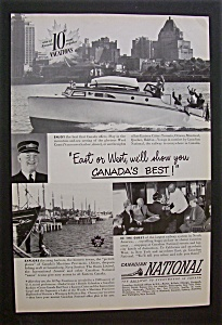 Vintage Ad: 1949  Canadian  National (Image1)