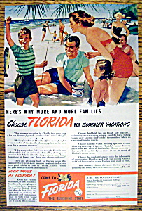 Vintage Ad: 1949 Come To Florida (Image1)
