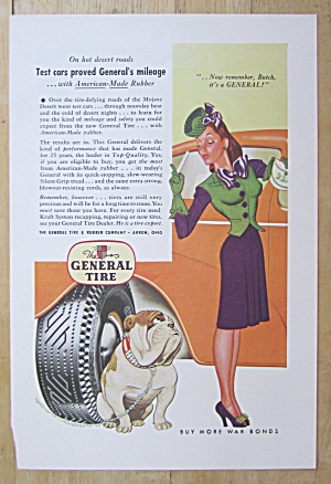 1944 General Tire w/Woman Shaking Her Finger At A Dog (Image1)