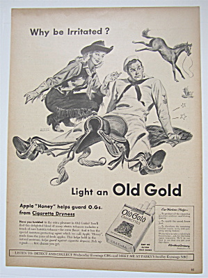 1945 Old Gold Cigarettes with Cowboy Woman & Sailor (Image1)