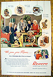 Vintage Ad: 1948 Revere Eight & Sixteen Cameras