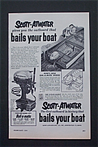 1954 Scott-atwater With Outboard That Bails Your Boat