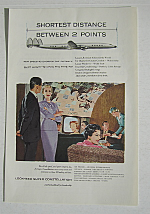 1955 Lockheed Super Constellation W/people On Airplane