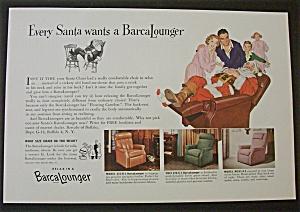 1955 Barcalounger with Santa Claus Sleeping (Image1)