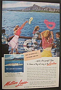 Vintage Ad: 1955  Matson  Lines (Image1)