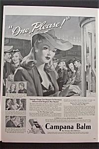 1943 Campana Balm Skin Softener w/Woman Buying Ticket (Image1)