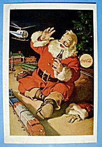 1962 Coca Cola (Coke) with Santa Claus Sitting (Image1)