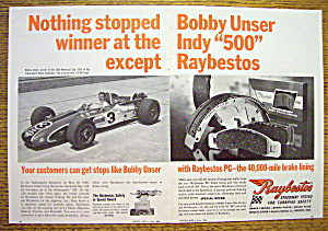 1968 Raybestos Brake Lining With Bobby Unser