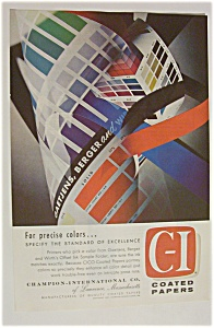 Vintage Ad: 1957  C - I  Coated  Papers (Image1)
