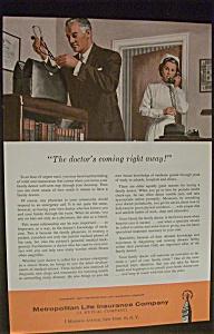 1957 Metropolitan Life Insurance Company with Doctor (Image1)