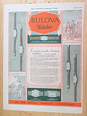 1928 Bulova Watches With Bulova Lido Watch