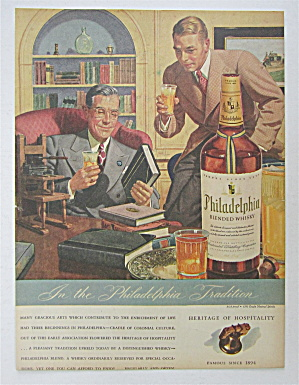 1943 Philadelphia Whiskey with Two Men Talking  (Image1)