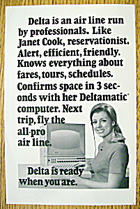 Vintage Ad: 1970 Delta Air Lines With Janet Cook