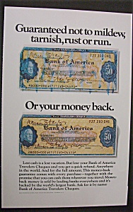 Vintage Ad: 1970 American Travelers Cheques (Image1)