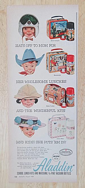 1959 Aladdin School Lunch Kits with Children  (Image1)