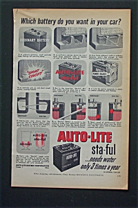 1952 Auto-Lite Sta-Ful Battery w/Which Battery In Car  (Image1)