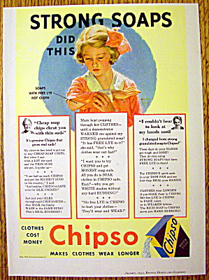 1934 Chipso Quick Suds with Girl with Ripped Shirt (Image1)