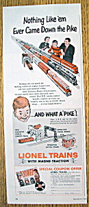 Vintage Ad: 1954 Lionel Trains With Magni-Traction (Image1)