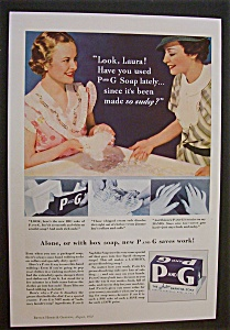 1934 P & G The White Naphtha Soap