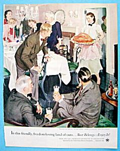 Vintage Ad: 1954 Beer Belongs By John Gannam (Image1)
