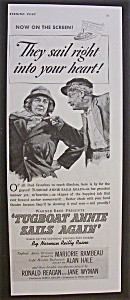 1940  Movie Ad for  Tugboat  Annie  Sails  Again (Image1)