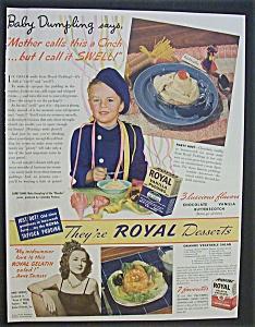 Vintage Ad: 1940 Royal Desserts w/Baby Dumpling (Image1)