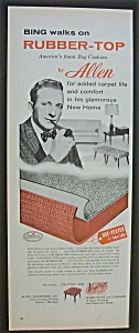 1958  Rubber-Top Rug Cushion by Allen  w/ Bing  Crosby (Image1)