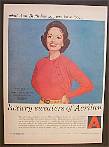 1955  Acrilan  with  Ann  Blyth (Image1)