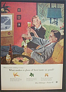 Vintage Ad: 1955 Beer Belongs By Pruett Carter