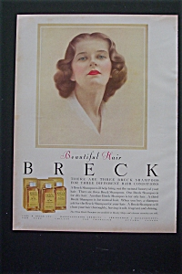 1952 Breck Shampoo with Lovely Breck Girl  (Image1)