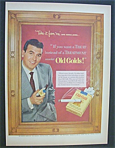 1952 Old Gold Cigarettes with TV Star Dennis James (Image1)