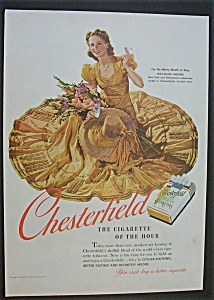 1940 Chesterfield Cigarettes