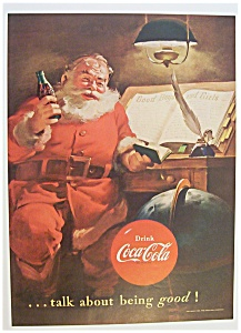 Vintage Ad: 1951 Coca Cola with Santa Claus (Image1)