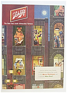 1951 Schlitz Beer With Many People Celebrating