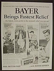Vintage Ad: 1958 Bayer Aspirin (Image1)