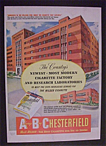 1950 Chesterfield Cigarettes