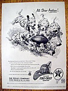 Vintage Ad:1952 Texaco Fire Chief Gasoline w Dalmatians (Image1)