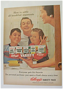 1955 Kellogg's Variety Pak w/ Mother Showing Her Family (Image1)