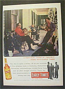 1956 Early Times Whiskey