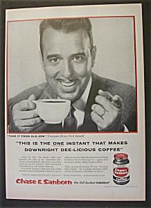 Vintage Ad: 1956 Chase & Sanborn Coffee w/ Ernie Ford (Image1)