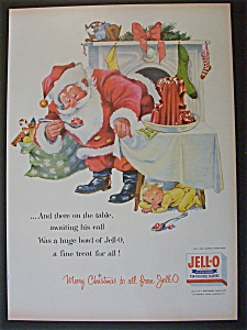 1956 Jell-O with Santa Claus Eating Jell-O (Image1)