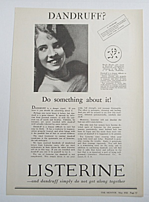 1926 Listerine with Woman Smiling  (Image1)