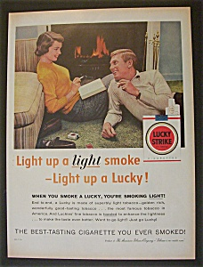 1957 Lucky Strike Cigarettes