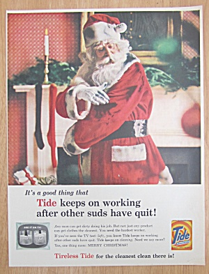 1959 Tide Laundry Detergent w/Santa Claus Being Dirty (Image1)