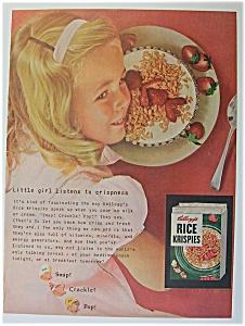 1955 Kellogg's Rice Krispies w/Girl's Head Over Bowl (Image1)