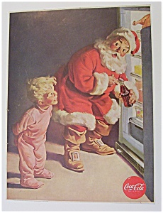 1959 Coca Cola (Coke) with Santa Claus & Refrigerator (Image1)