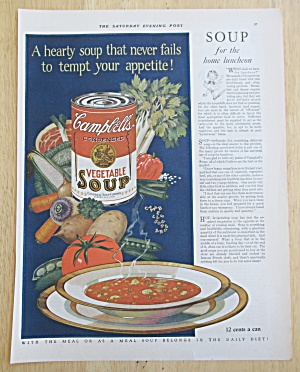 1926 Campbell's Vegetable Soup with Bowl of Soup (Image1)