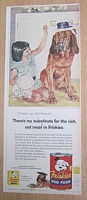 1956 Friskies Dog Food by Douglas Rockwell-Girl & Dog (Image1)