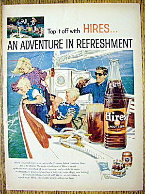 1959 Hires Root Beer with Family Sailing on Boat (Image1)